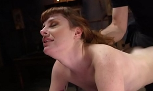 Redhead gangbang tormented in the matter of training