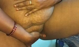 desi indian tamil telugu kannada malayalam hindi horny cheating wife vanitha wearing blue colour saree showing big boobs increased by shaved pussy churn hard boobs churn nip rubbing pussy masturbation