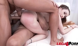 Tiny slut Jessi Empera takes 3 HUGE cocks in her Tiny stretchable Asshole